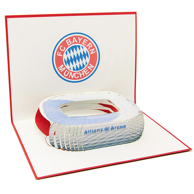ST016- pop up Bayern Munchen greeting cards- greetingcards Bayern Munchen-kirigami stadium greeting cards- bayern munchen cards pop up- charmpop cards1 ) (3)