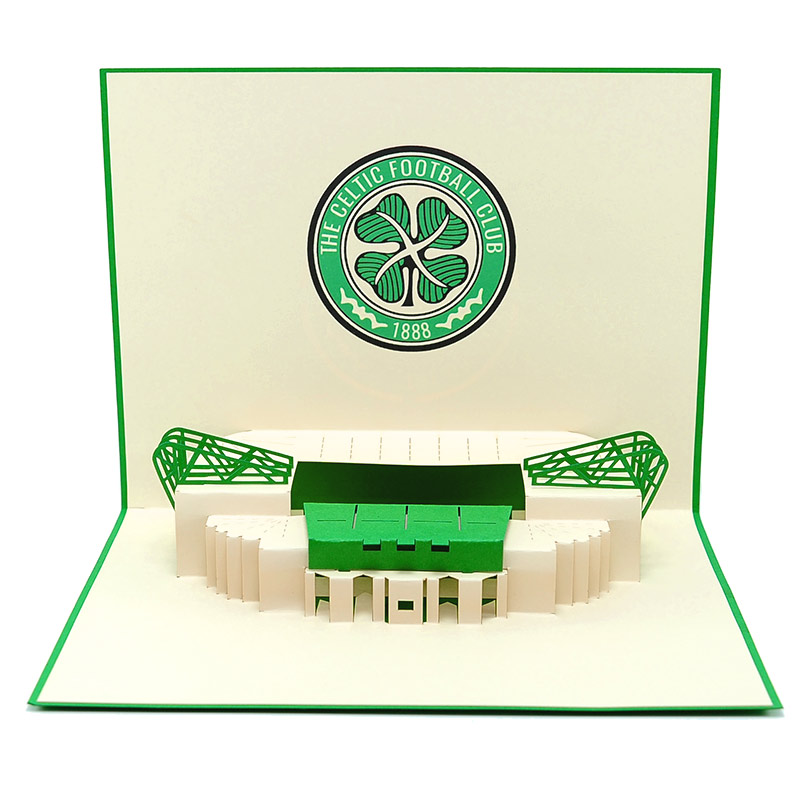 ST017-the celtic pop up cards- kirigami the celtic football club- pop up the celtic greeting cards- charmpop cards (3)