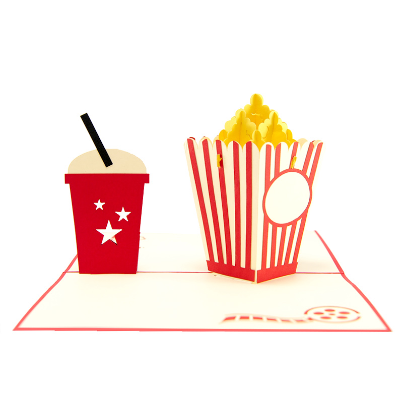 popcorn pop up card wholesale- pop up card birthday- birthday card kirigami- kirigami card manufacturer (1)