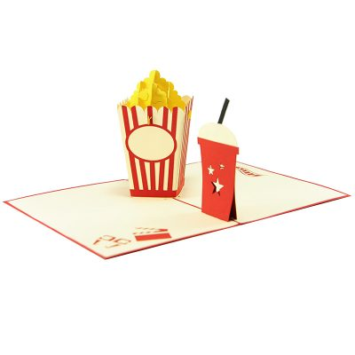 popcorn pop up card wholesale- pop up card birthday- birthday card kirigami- kirigami card manufacturer (3)