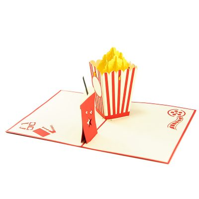 popcorn pop up card wholesale- pop up card birthday- birthday card kirigami- kirigami card manufacturer (4)