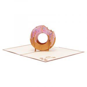 Donut pop up card-pop up card manufacture-pop up card vietnam- pop up cards supplier