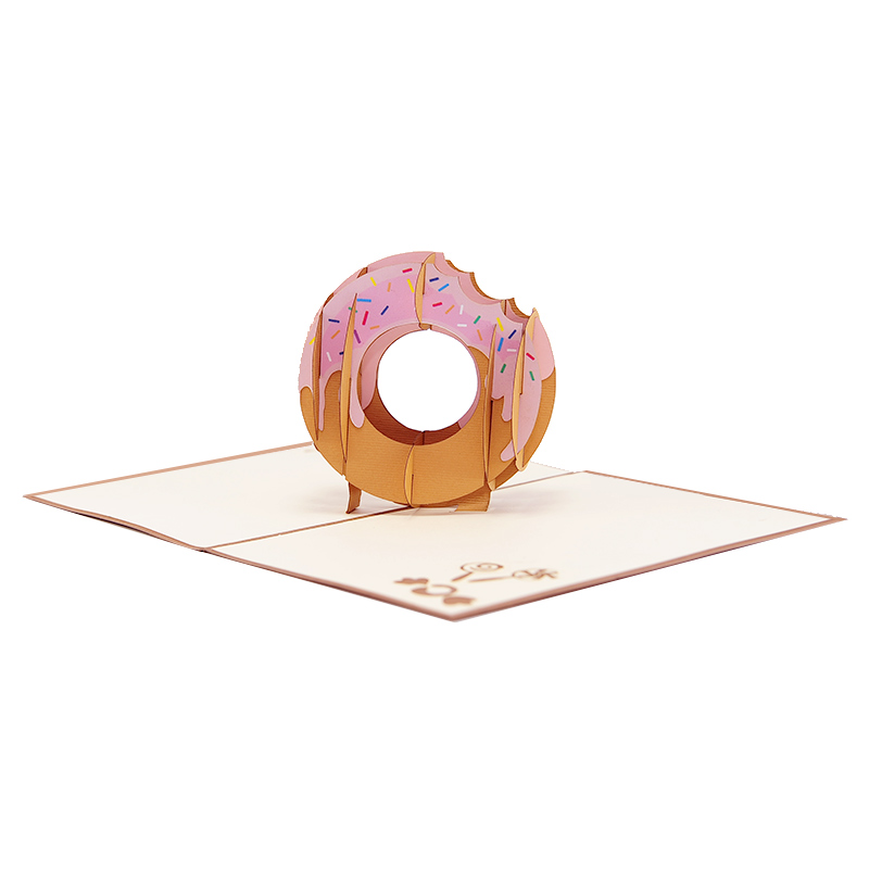Donut pop up card-pop up card manufacture-pop up card vietnam- pop up cards supplier