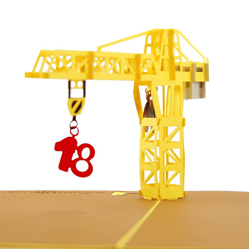 Birthday Crane pop up card, pop up card supplier, pop up card ...