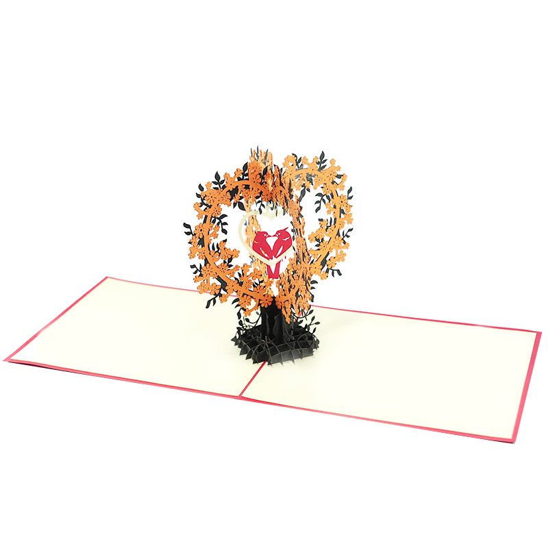 love bird pop up card- pop up cards supplier-pop up cards vietnam4