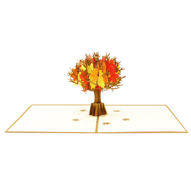 mapple tree pop up card- pop up cards wholesale-pop up cards vietnam1