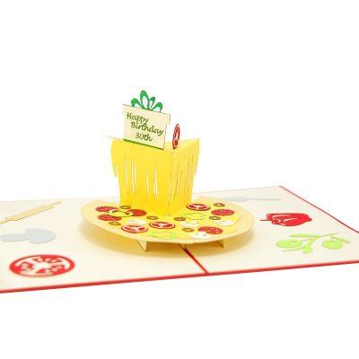 pizza pop up card- pop up cards wholesale-pop up cards vietnam