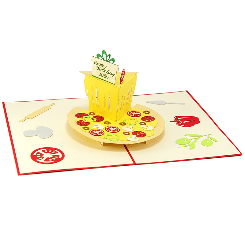 pizza pop up card- pop up cards wholesale-pop up cards vietnam4