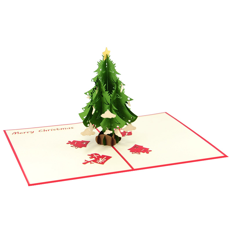 Christmas tree pop up card, Christmas tree origami card ...
