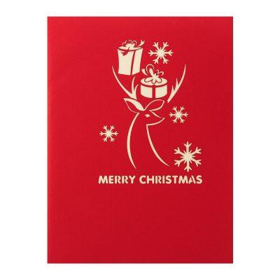 reindeer-popupcard-Christmas pop up card- charmpopcards (1)