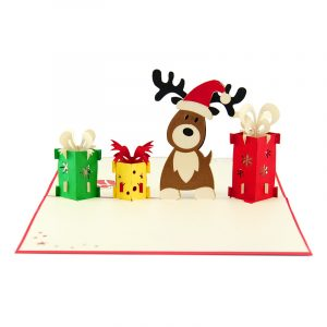 reindeer-popupcard-Christmas pop up card- charmpopcards (2)