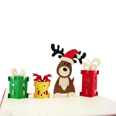 reindeer-popupcard-Christmas pop up card- charmpopcards (3)