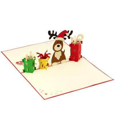 reindeer-popupcard-Christmas pop up card- charmpopcards (4)