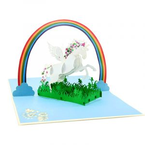 unicorn pop up card-birthday kirigami cards-charmpopcards (2)