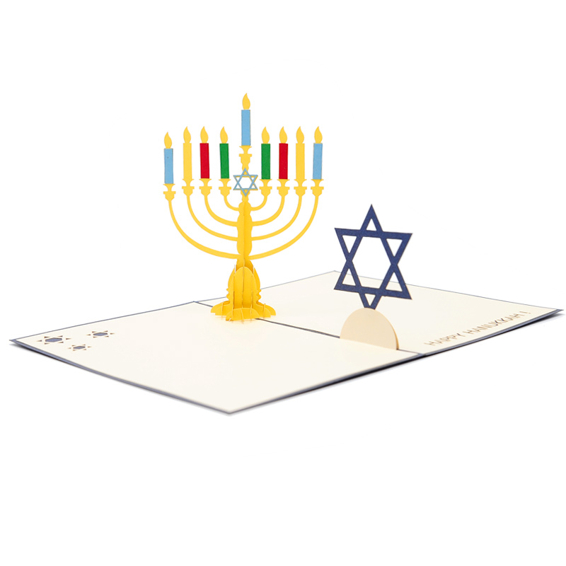 Hanukka pop up cards 3d candle jewish greeting card kirigami-charmpop (3)