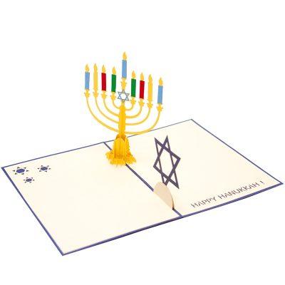 Hanukka pop up cards 3d candle jewish greeting card kirigami-charmpop (4)