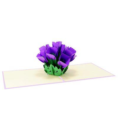 tulip pop up card-pop up card manufacture-pop up cards supplier vietnam