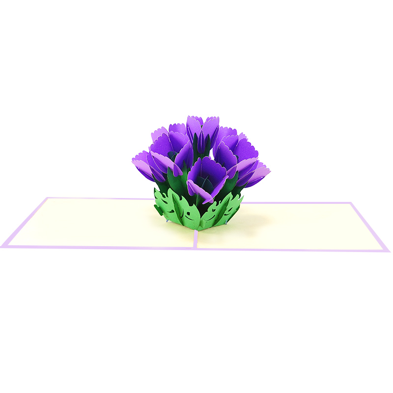 tulip pop up card-pop up card manufacture-pop up cards supplier vietnam2