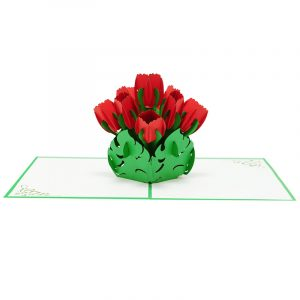 tulips pop up card-3d greeting cards flower-charmpop (3)