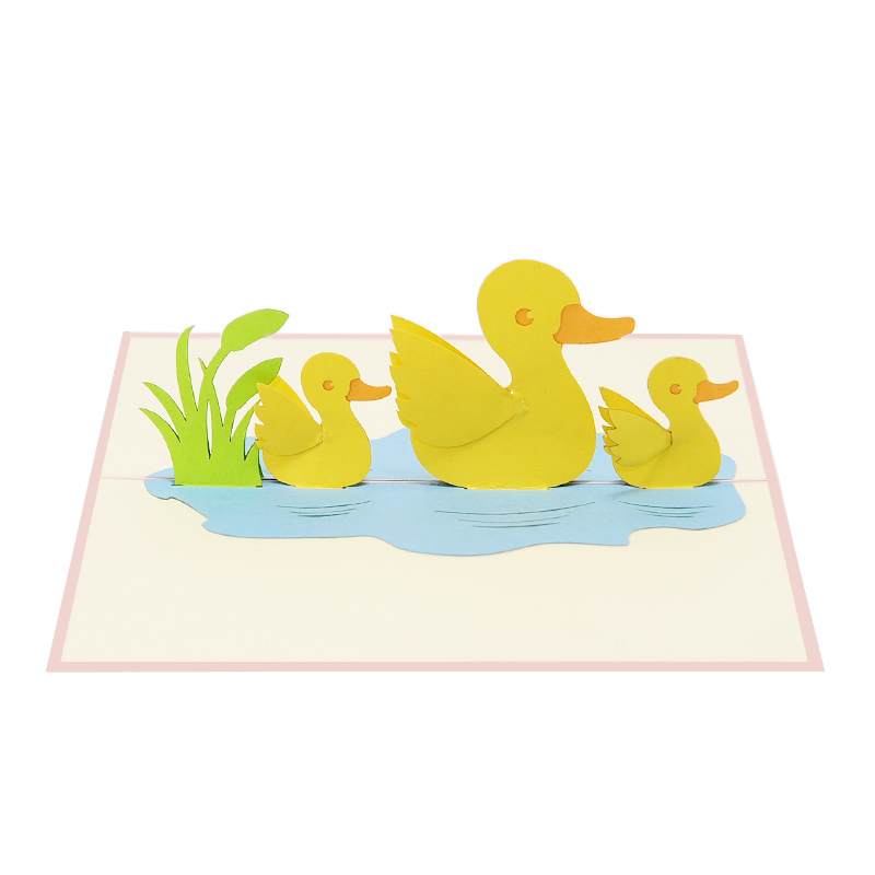Duck-greeting-card–duck-pop-up-card