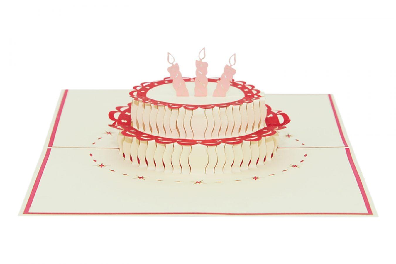 Birthday Cake Pop Up Card Pop Up Card Custom Cards Wholsale Charm Pop