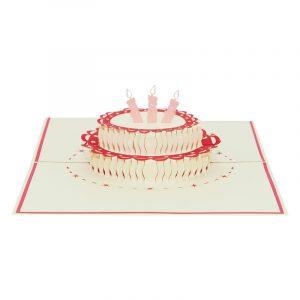 Birthday cake pop up card-pop up card manufacture-pop up card vietnam- pop up cards supplier1