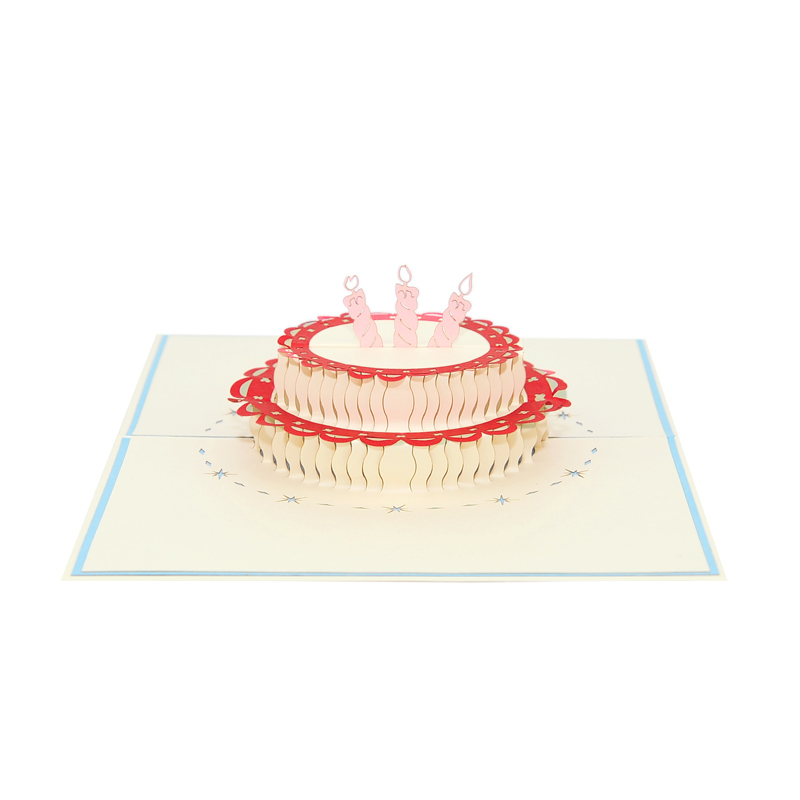 Birthday cake pop up card-pop up card manufacture-pop up card vietnam-pop up cards supplier3