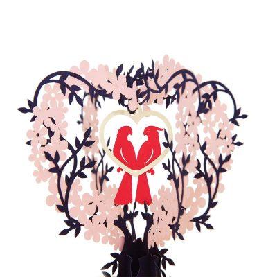 Love birds pop up card-pop up card wholesale-pop up card vietnam2
