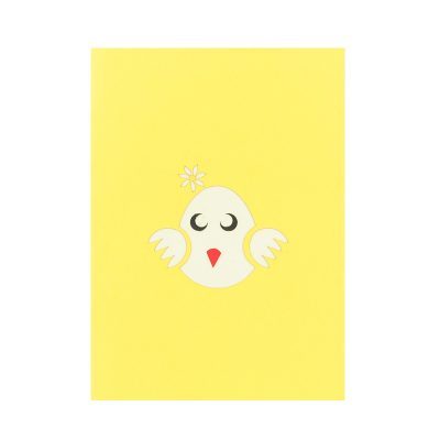 baby chicken pop up card baby chic greeting card handmade 3D wholesale (2)