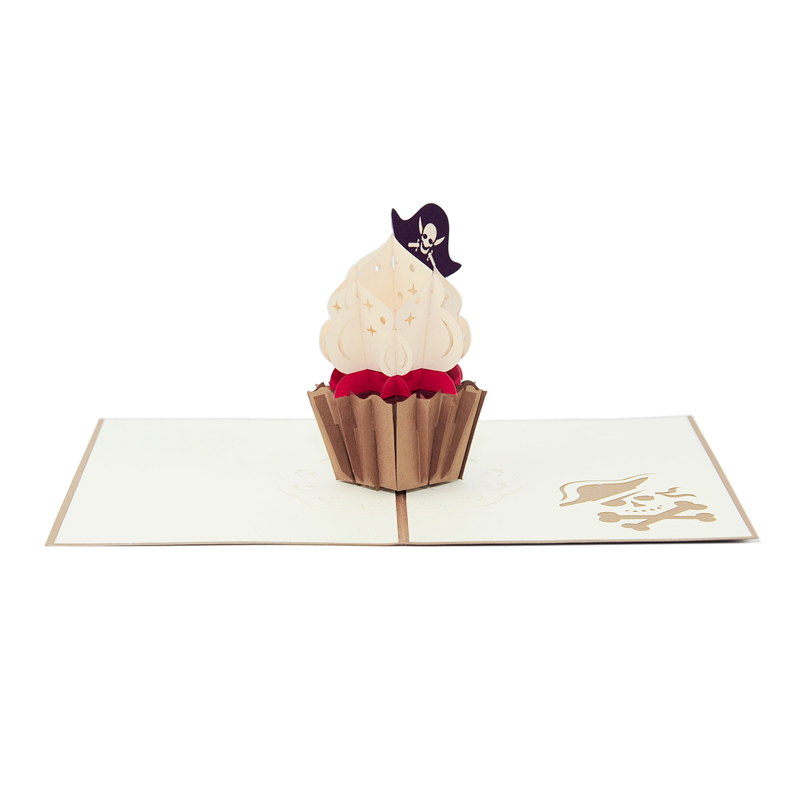 cupcake-pirate-pop up card supplier pop up card vietnam1