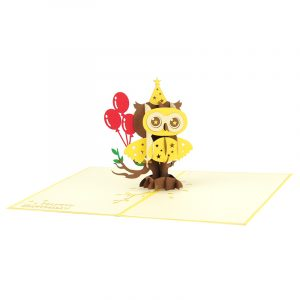 Birthday owl pop up cards wholesale birthday handmade greeting card manufactuer (26)