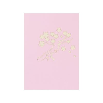 Cherry Blossom pop up cards, greeting card flower handmade 3d wholesale (1)