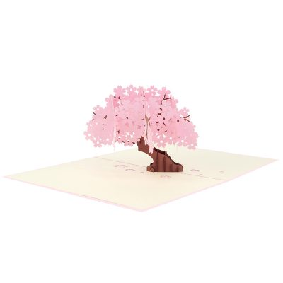 Cherry Blossom pop up cards, greeting card flower handmade 3d wholesale (2)