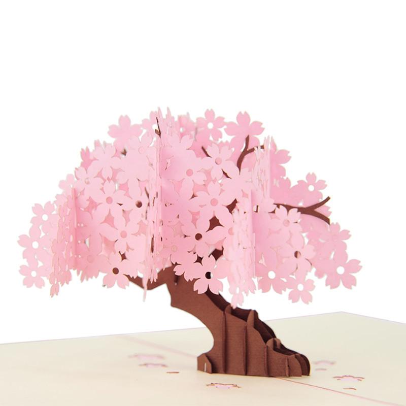 Cherry Blossom pop up card, mother\'s day pop up card manufacturer ...