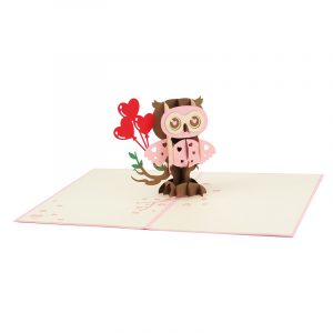 Owl balloon pop up cards wholesale birthday handmade greeting card manufactuer (9)
