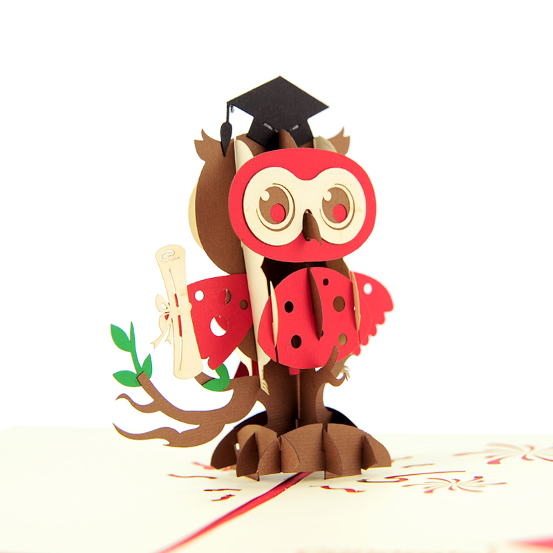 Graduation owl pop up card 3d card vietnam custom cards wholsale graduation owl pop up card 3d card vietnam custom cards wholsale pop up cards manufacturer vietnam m4hsunfo