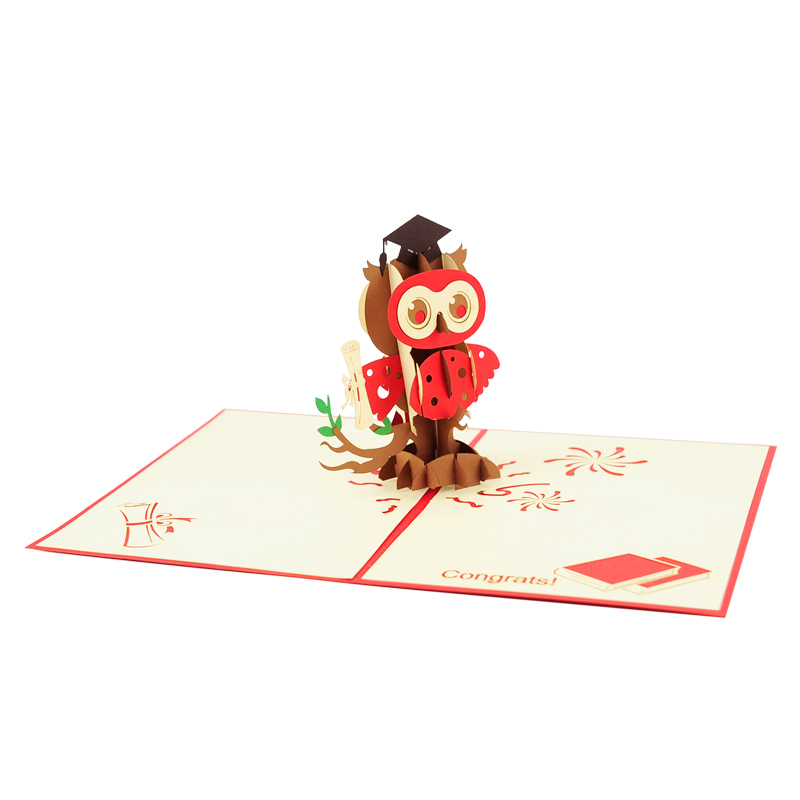 Graduation owl pop up cards wholesale congratulation handmade graduation owl pop up cards wholesale congratulation handmade greeting card supplier 13 3 m4hsunfo