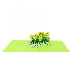 sun flower pop up card greeting card sunflower birthday handmade wholesale (3)