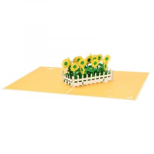sun flower pop up card greeting card sunflower birthday handmade wholesale (8)