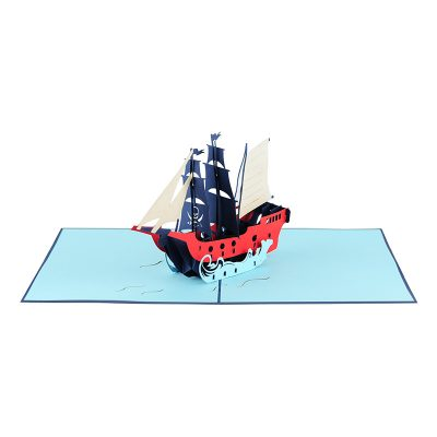 ship pop up card-greeting card 3d supplier handmade card wholesale (1)