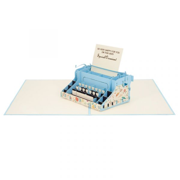 typewritter-pop-up-cards-3d-cards-manufacture-front