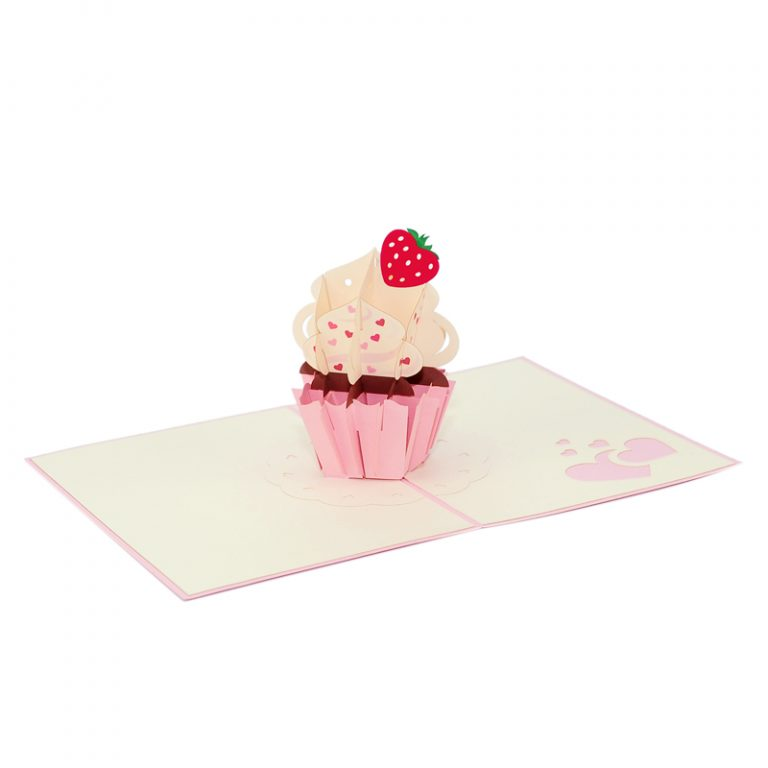 Strawberry cupcake pop up card pop up card valentines cupcake strawberry cupcake pop up card pop up card valentines cupcake valentines greeting card m4hsunfo
