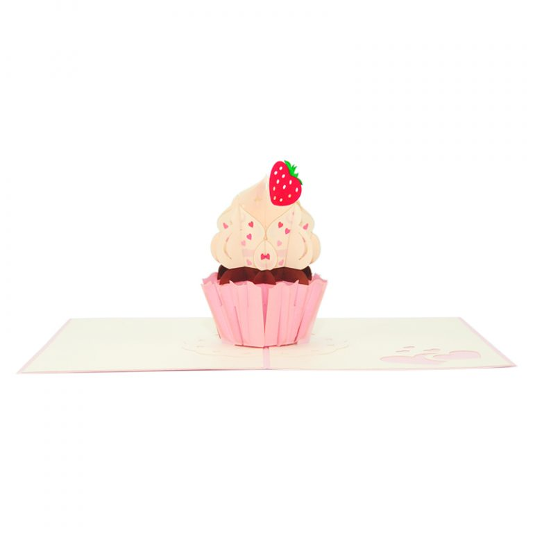 cupcake pop up card cupcake greeting card handmade pop card vietnam pop up card manufacture (12)