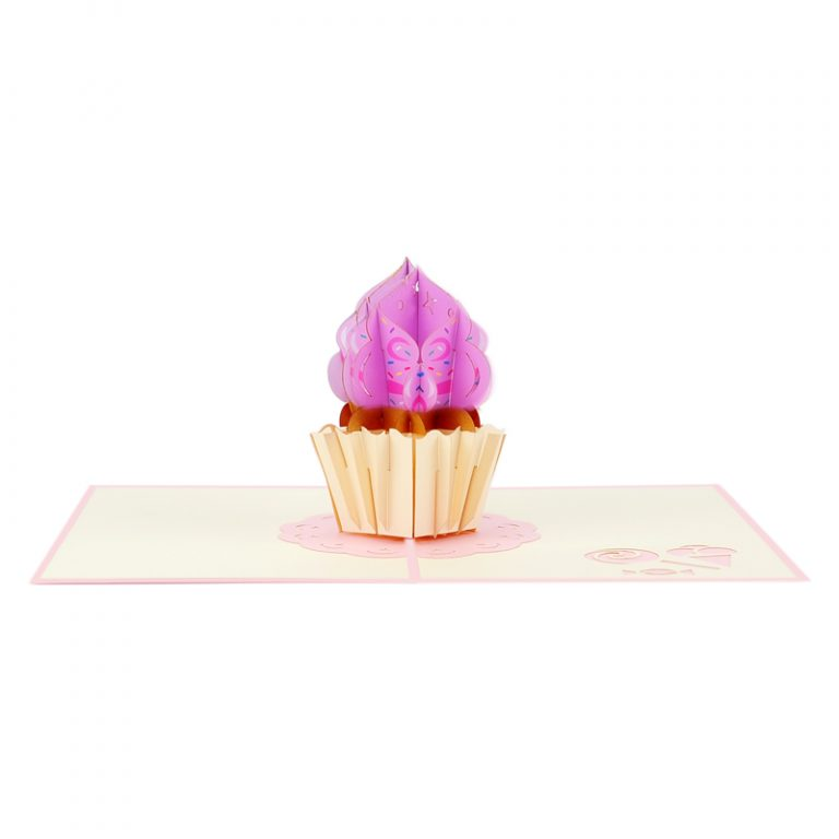 cupcake pop up card cupcake greeting card handmade pop card vietnam pop up card manufacture (8)