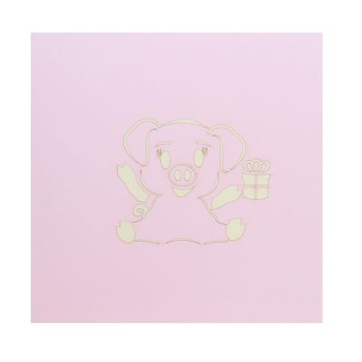 Birthday pig pop up cards supplier- pop up cads wholesale. (2)