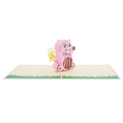 Birthday pig pop up cards supplier- pop up cads wholesale. (3)