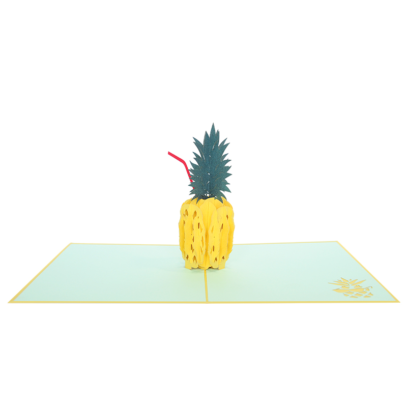 Pineapple drink pop up card- pop up card wholesale- pop card manufacture-charmpop (3)