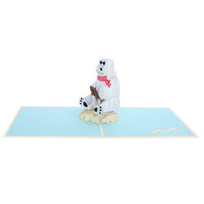 Polar bear pop up card-pop up cards supplier- pop up cads wholesale (3)