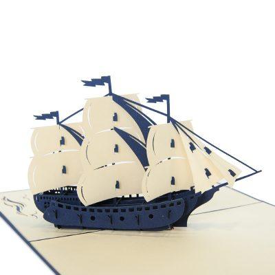 Sailing ship pop up card-pop up card manufacture (1)1