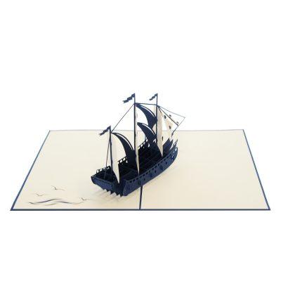Sailing ship pop up card-pop up card manufacture (3)